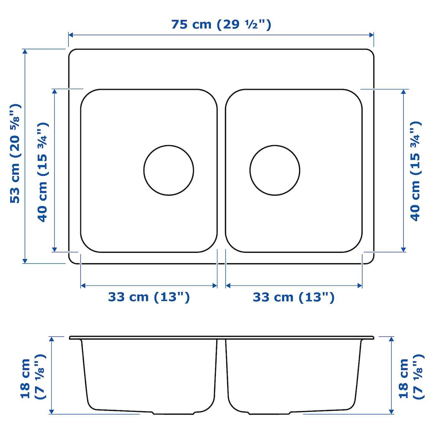 Langudden Einbauspule 2 Becken Edelstahl Einbauspule Edelstahl Und Stahl
