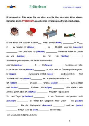 Präteritum (Kriminalpolizei)   schule   Pinterest   English lernen ...