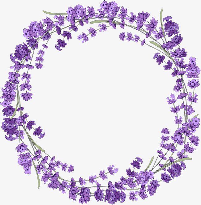 Lavender Wreath Purple Lavender Wreath Png Image Lavender Wreath Floral Border Design Flower Clipart