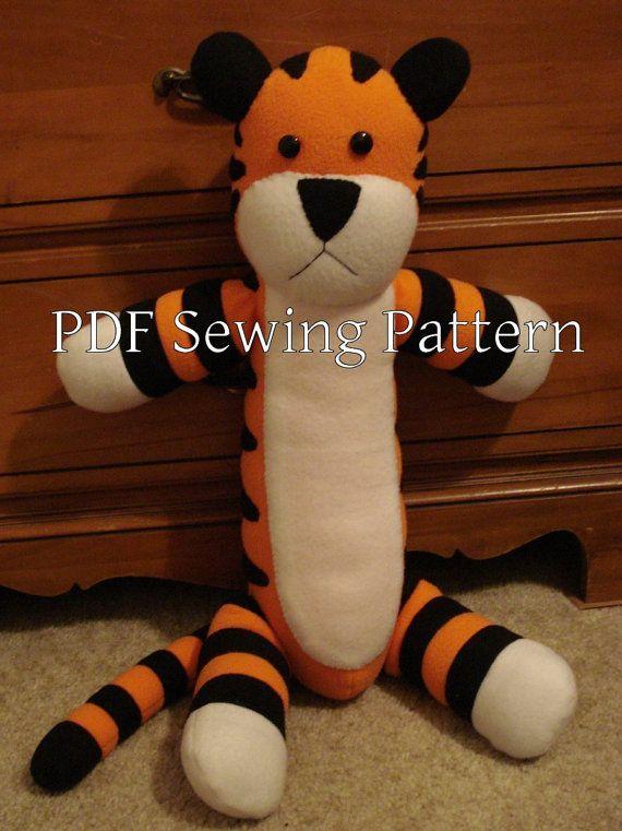 Hobbes plush toy sewing pattern | Crafts | Pinterest