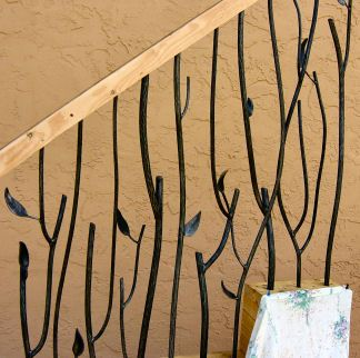Best Iron Twig Railings 14 Hand Forged Twig Steel Close 400 x 300
