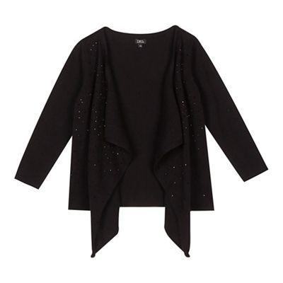 Star by Julien Macdonald Girls' black gem waterfall cardigan ...