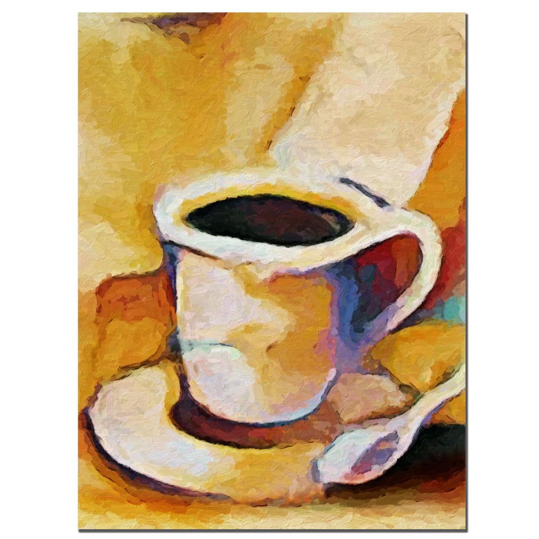 Trademark Fine Art \'Coffee\' by Adam Kadmos Painting Print on Canvas ...