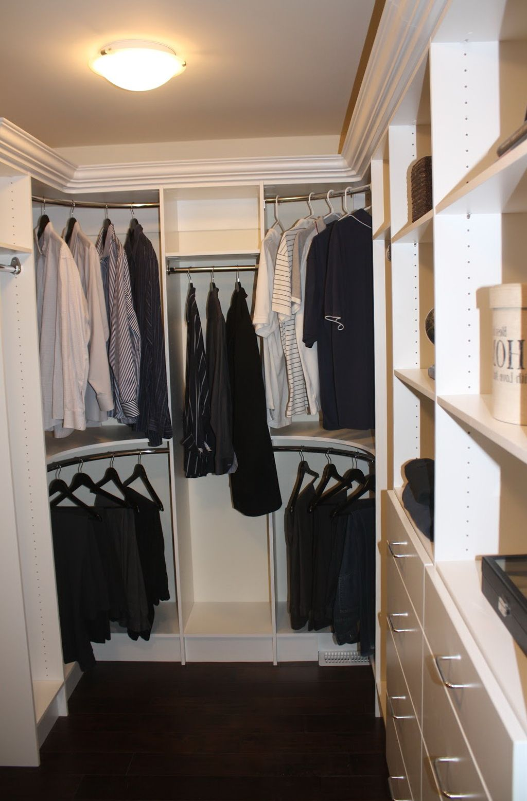 Curved Closet Rod Mesmerizing Curved Closet Rods Corners  Office Closets And Organizational Design Ideas