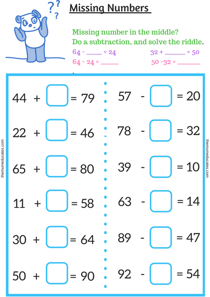 How To Solve Missing Numbers Problem In Year 2 The Mum Educates Missing Numbers Math Numbers Math Made Easy