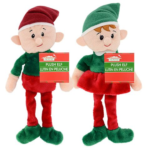 Christmas  Elf Toy Boy and Girl knitting patterns  Bargain price for both elfs