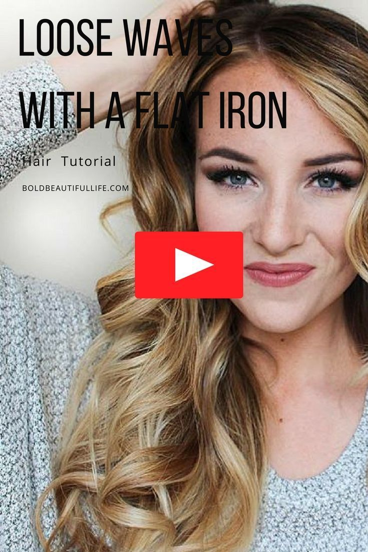 Loose waves with a flat iron