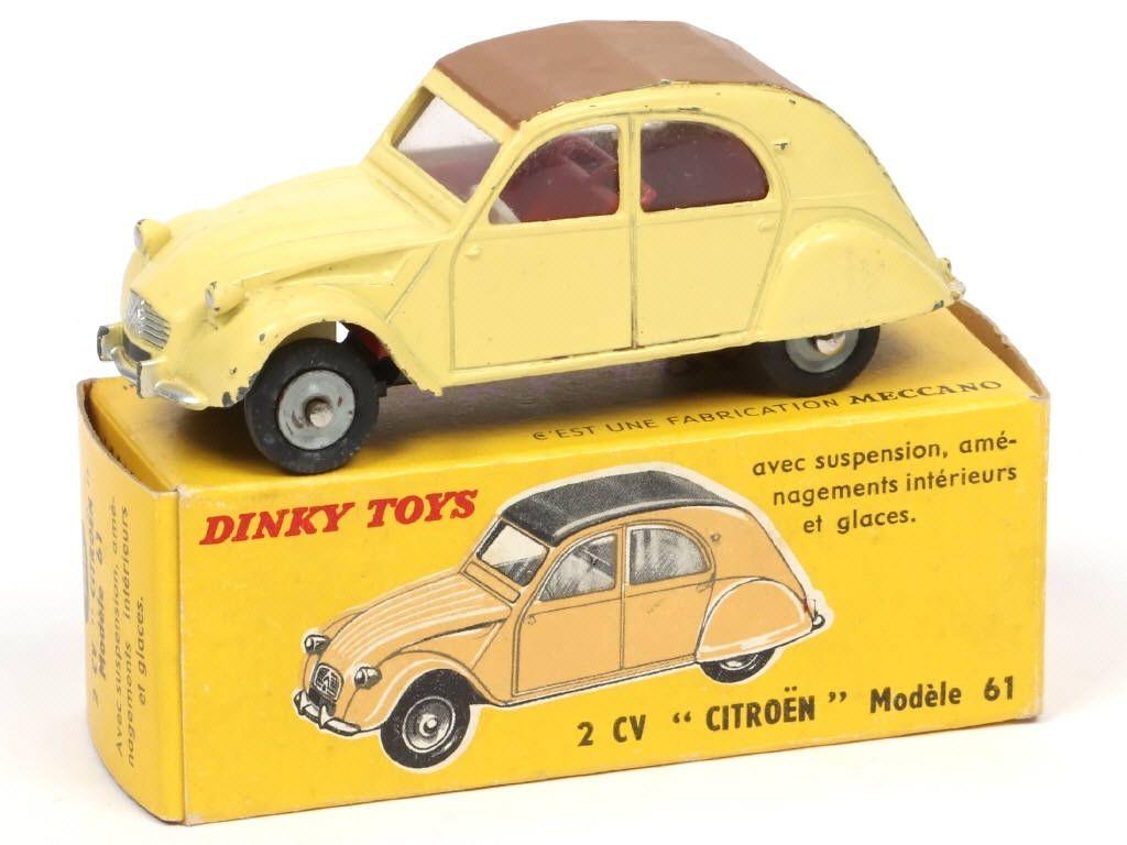 Dinky Toys France 558 Citroen 2cv Modele 1961 Jaune Paille Capote Marron 45 Petites Voitures 2cv Citroen 2cv