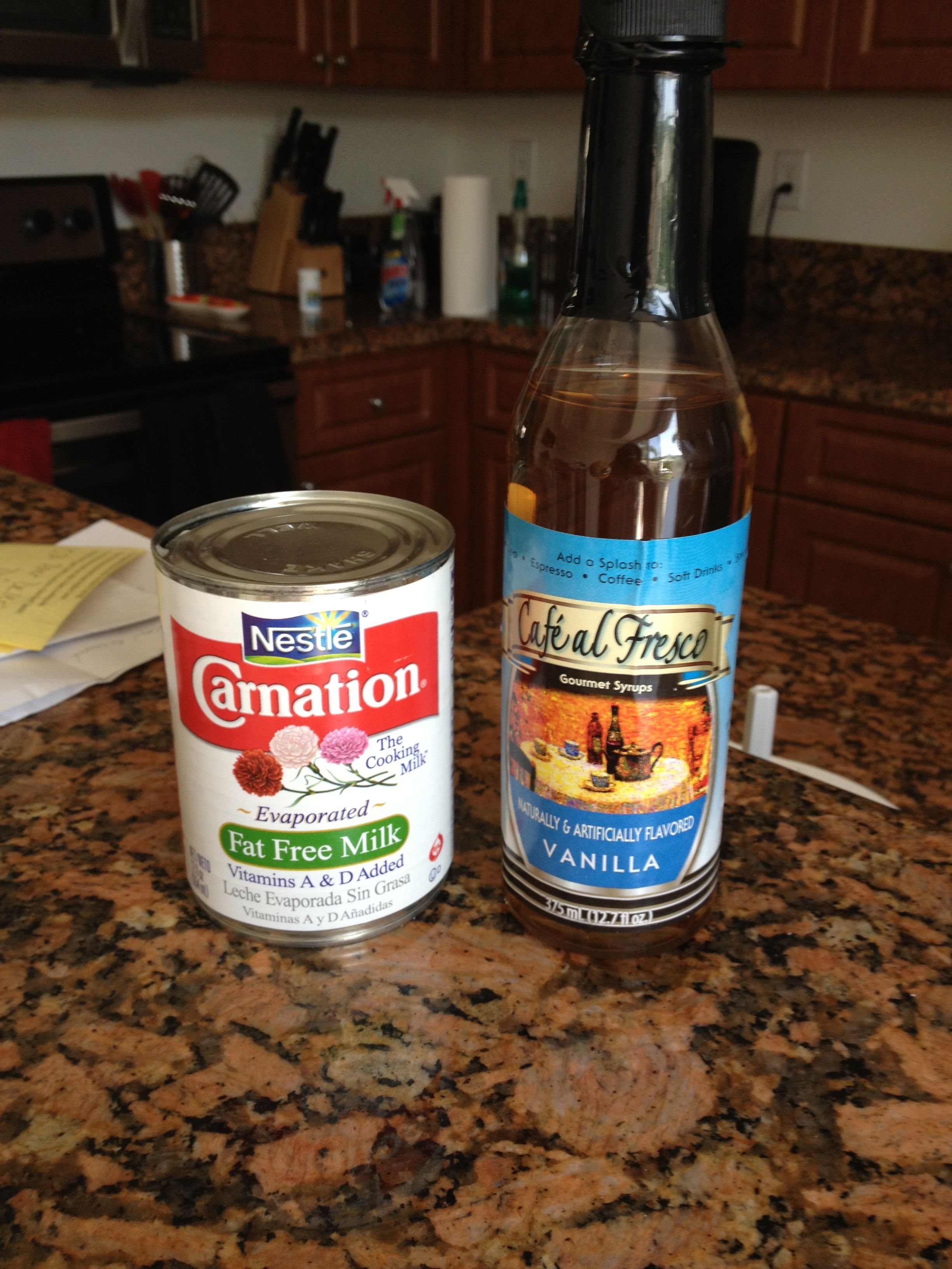 Homemade (cheap) coffee creamer ) the syrup is sugar free