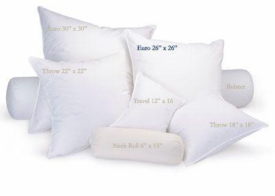 Gia Feather Pillow Insert Feather Pillows Pillows Down Pillows