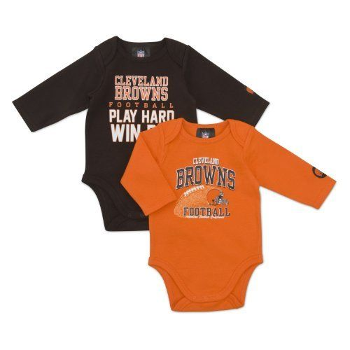 Look at this Cleveland Browns Long-Sleeve Bodysuit Set - Infant by NFL 23a42e0b1