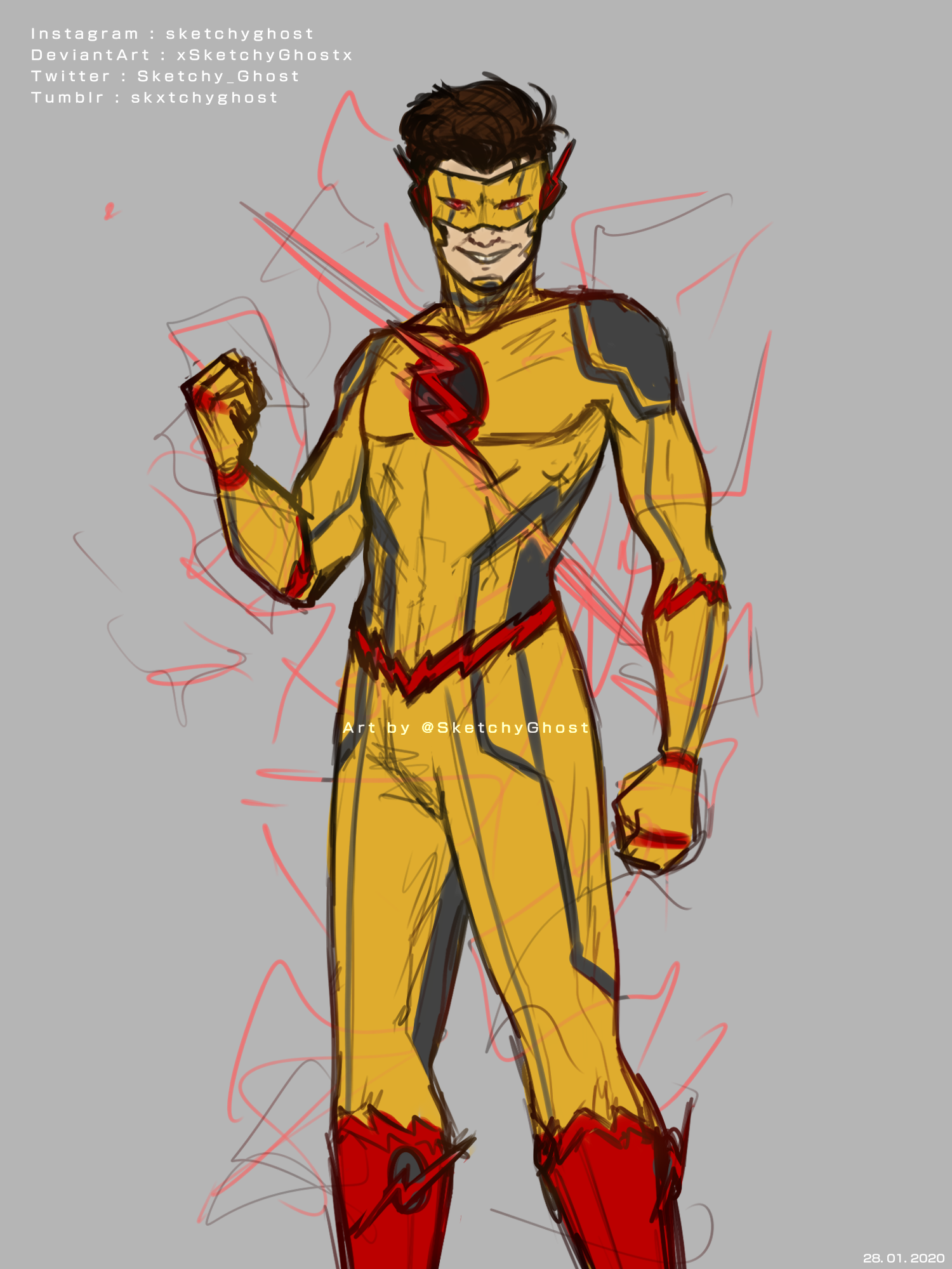 Sketchyghost Some Messy Concept Art Of Ethan As Reverse Flash Reverse Flash Superhero Characters Concept Art