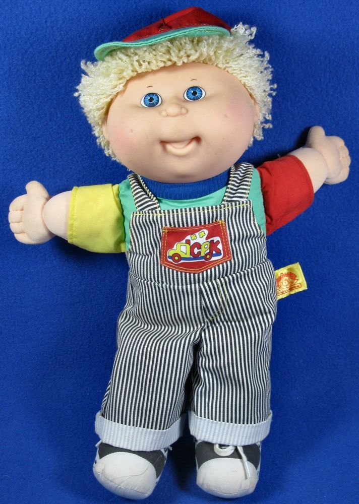 Cabbage Patch Kids Toddler Boy Blonde Hair Blue Eyes First Edition Hasbro 1990 Hasbro Cabbage Patch Kids Patch Kids Blue Hair