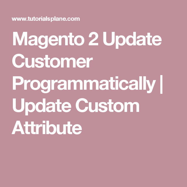 Magento 2 Update Customer Programmatically | Update Custom