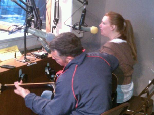 PinN 1 more action shot from 4/12/2012 on air @KKFI 90.1FM KC,MO