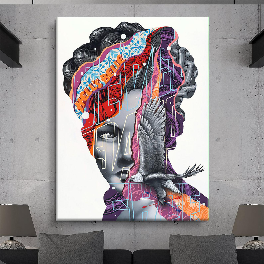 Graffiti Wall Art Canvas Street Art Canvas Canvas Print Pop Etsy Graffiti Wall Art Pop Art Canvas Big Canvas Prints