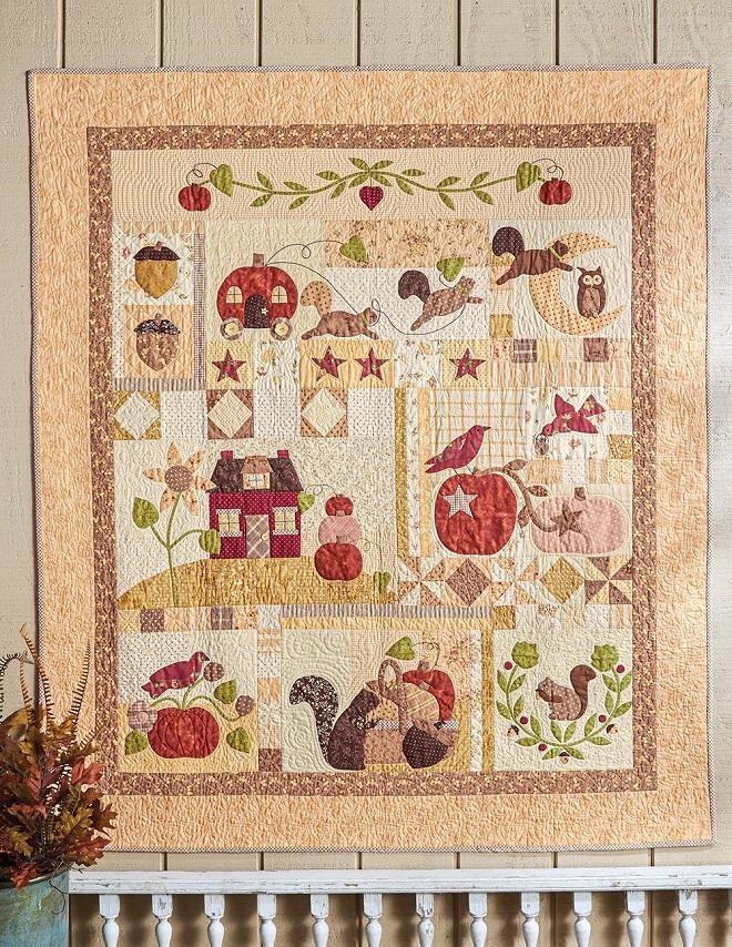 Pumpkin Hill Quilt Book by Anne Sutton of Bunny Hi