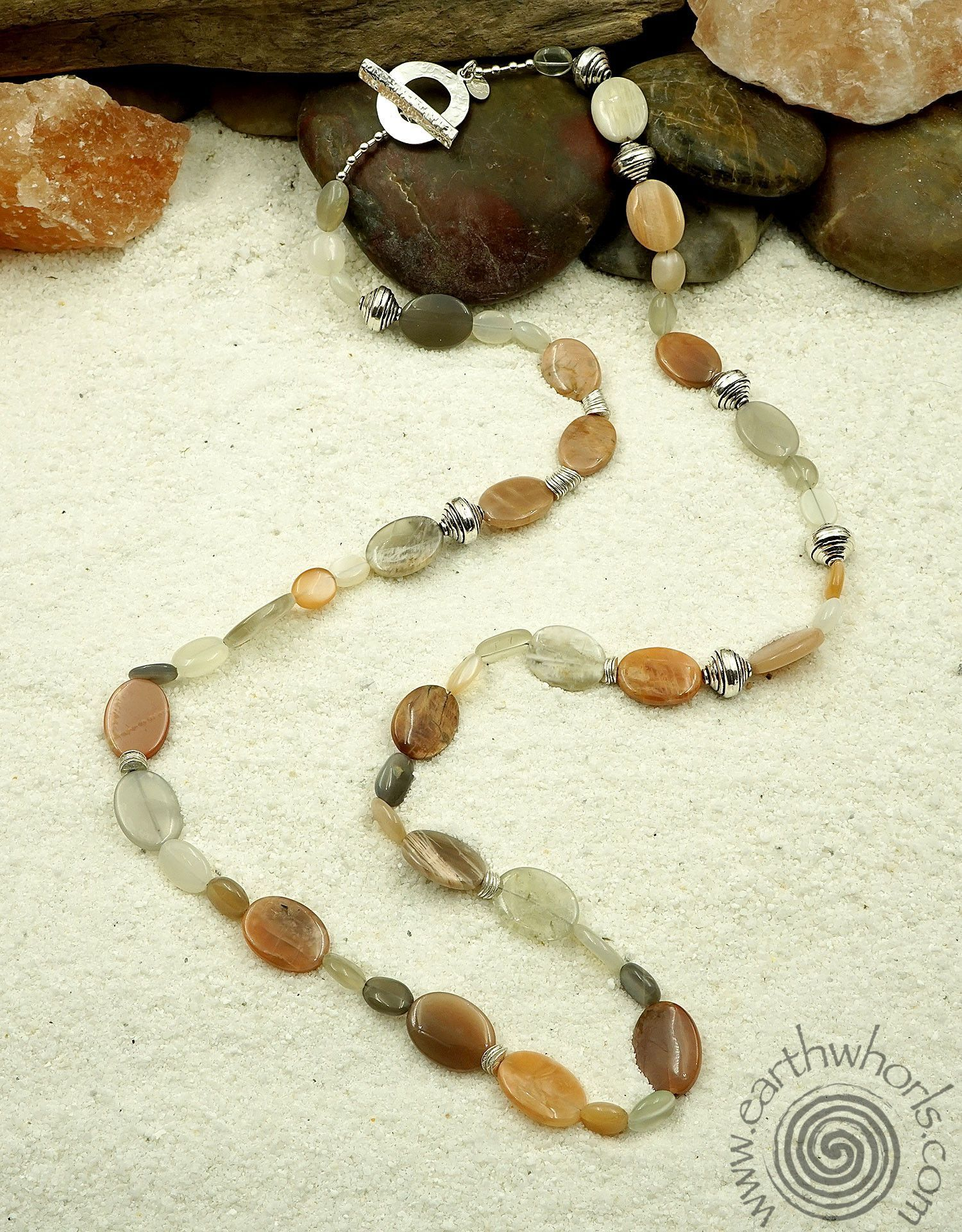 Moonstone & Sterling Silver Necklace