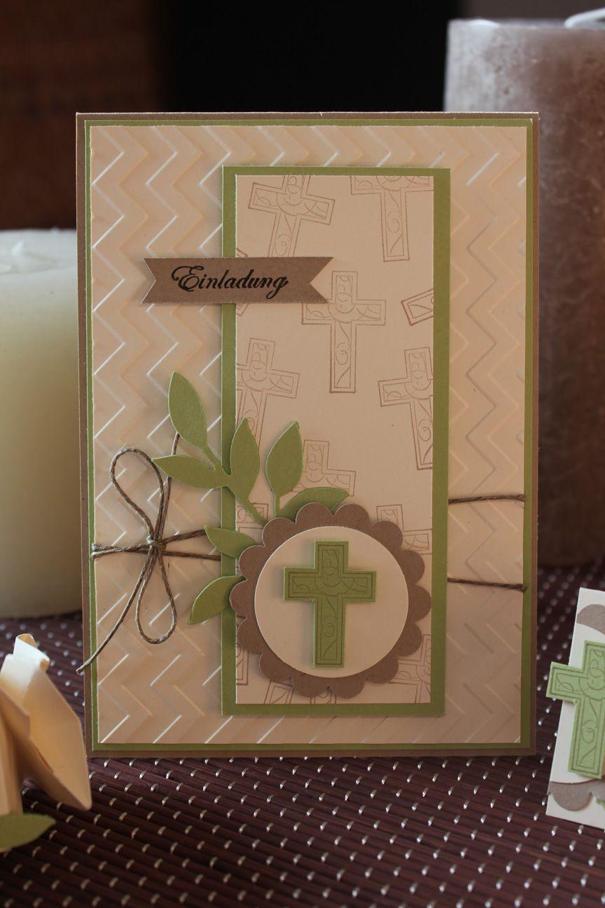 einladung zur konfirmation - stampin' up! | süße karten, Einladung