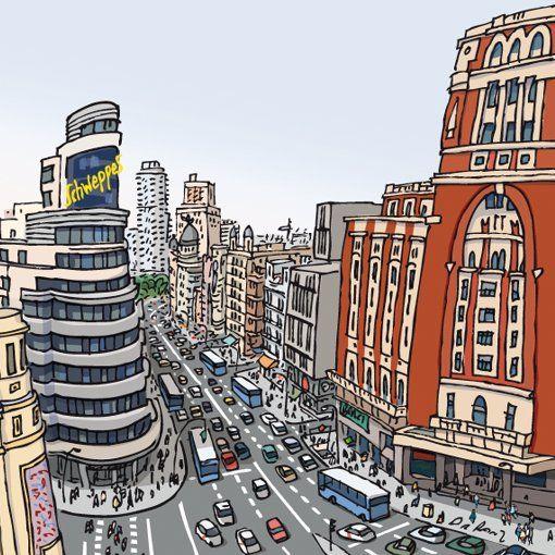 Tweets Con Contenido Multimedia De Gran Via De Madrid