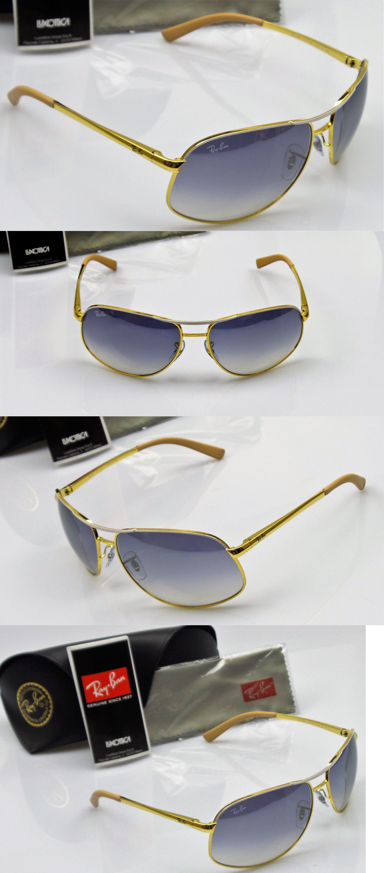 4343f5271d2 Sunglass Lens Replacements 179194  Ray Ban Rb3387 077 7B Mens Gold White  Frame Blue Gradient