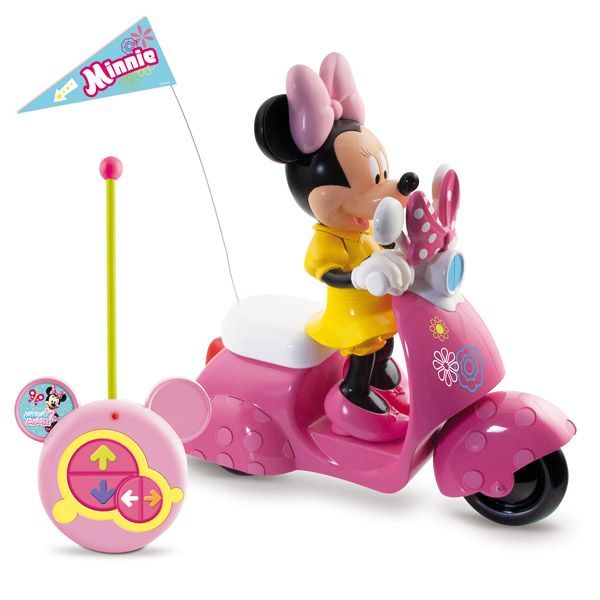 scooter radiocommand minnie pour no l voiture. Black Bedroom Furniture Sets. Home Design Ideas