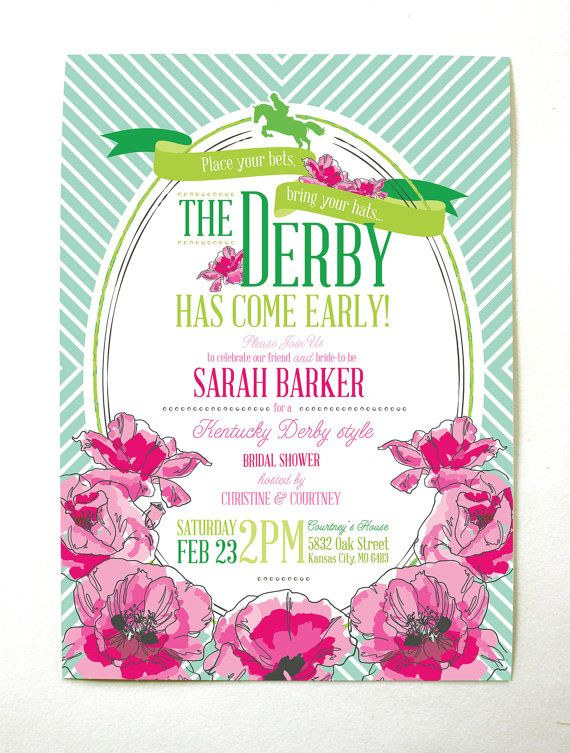 derby bridal shower invitation printable by mountainpaper on etsy 2499