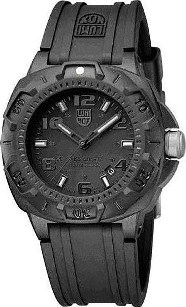 Luminox Mens Sentry 0200 Carbon Watch - Black Rubber Strap - Black Dial - L0201.bo