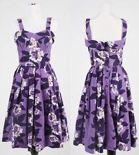 Vintage 1950's Purple Hawaiian Tiki PinUp VLV Dress Small