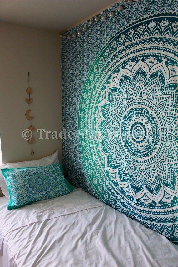 58/'/'x58/'/' Indian Boho Mandala Hippie Tapestry Wall Hanging Bedspread Blanket Mat
