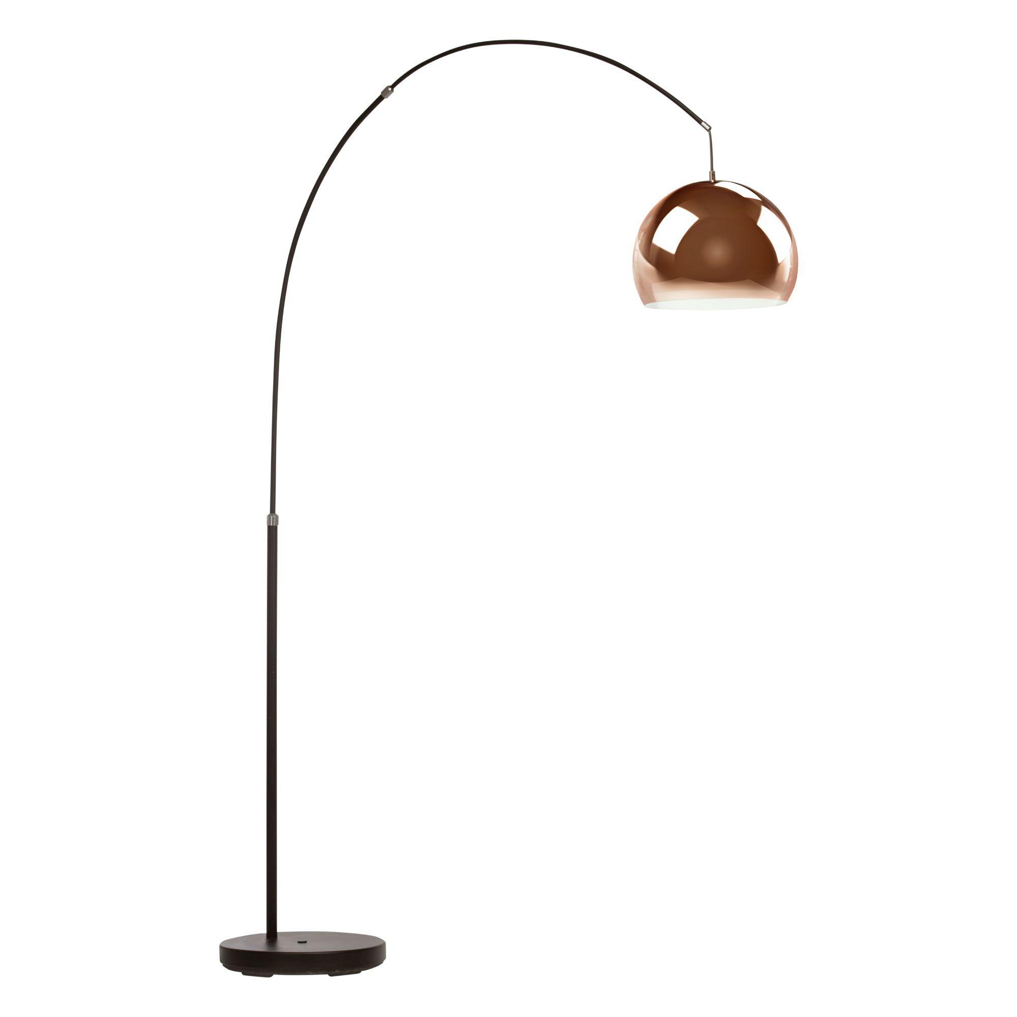 lampadaire arc noir cuivre h202cm nereide cuivre arcs noirs et lampadaire arc. Black Bedroom Furniture Sets. Home Design Ideas