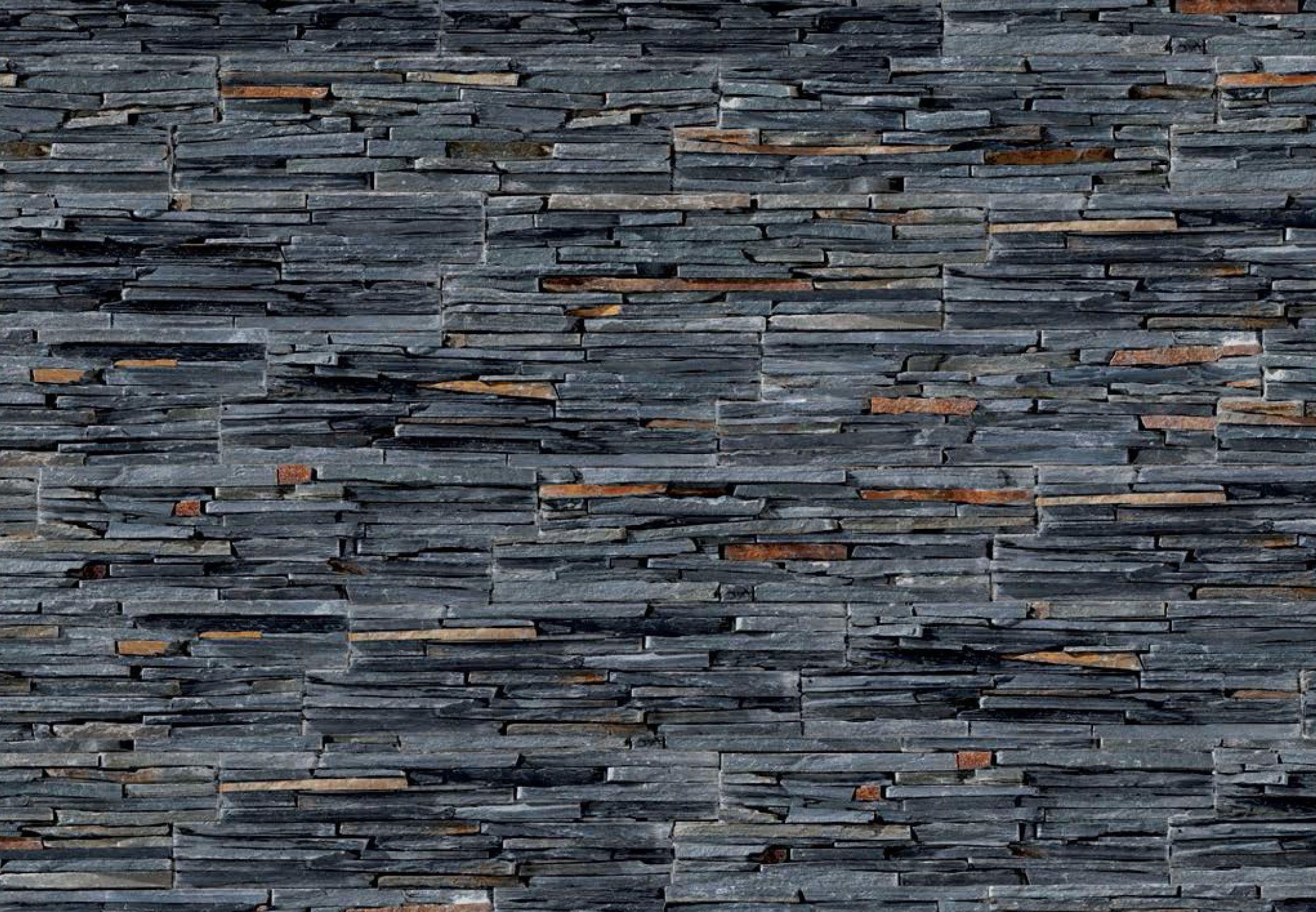 Laja negra materials en 2018 pinterest laja panel y revestimiento - Revestimiento paredes interiores pizarra ...