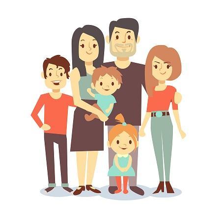 Lamina De Una Familia Compuesta Por 8 Miembros Buscar Con Google Family Cartoon Family Vector Vector Character