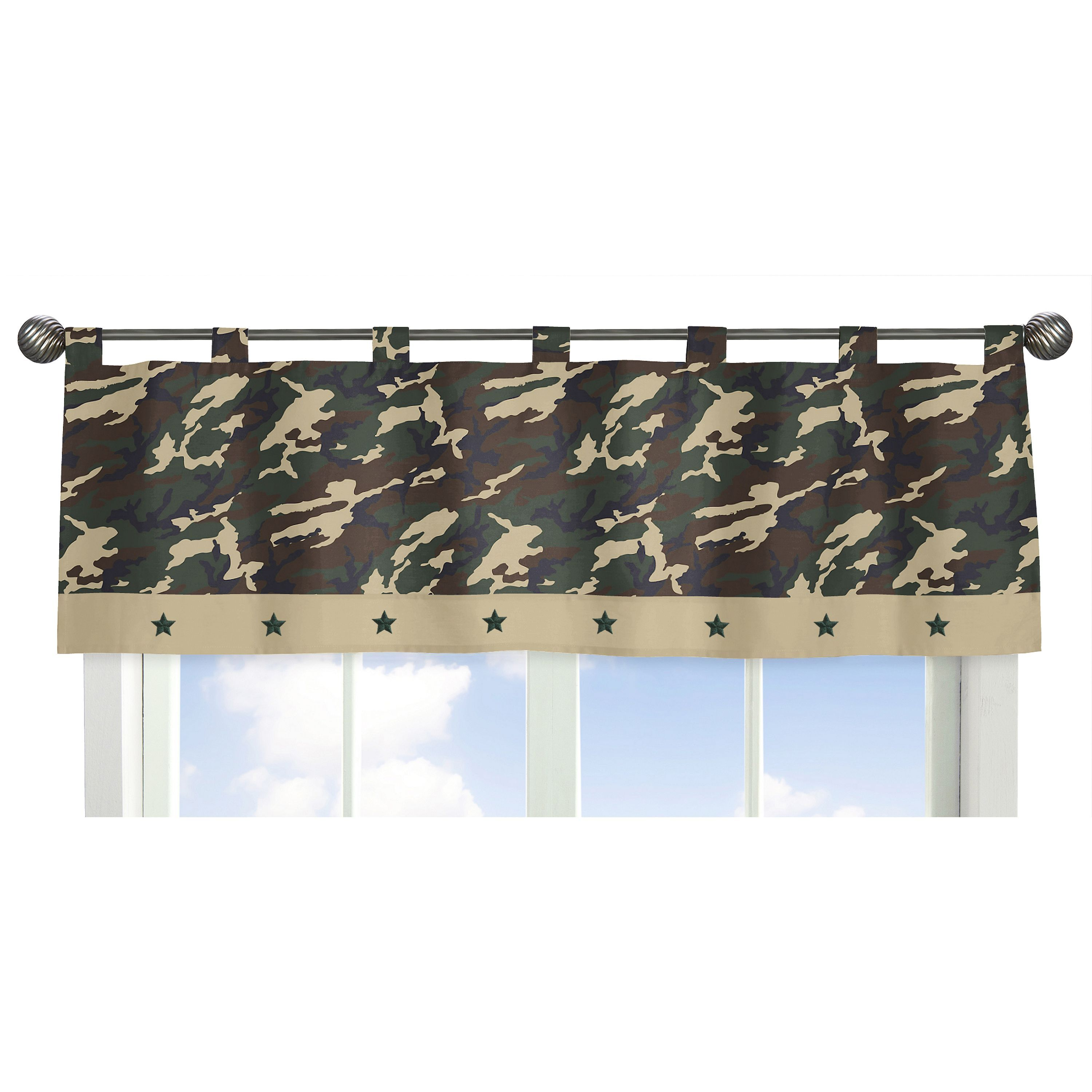 Sweet Jojo Designs Green Camo Collection Tab Top Window