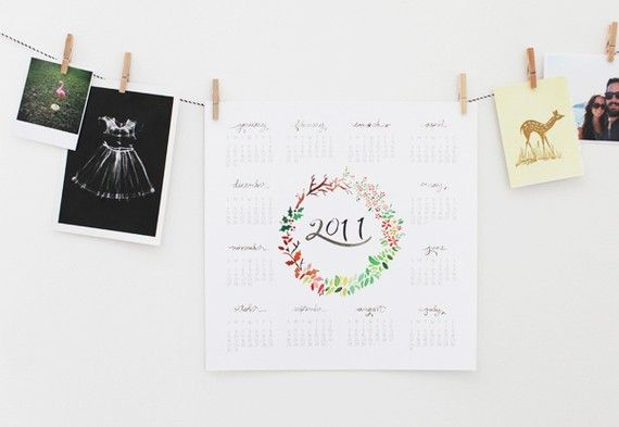 Calendar via Lottie Loves...: Stationery and Paper Goods
