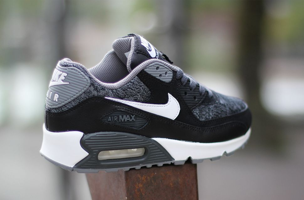 Nike Air Max 90 GS Woven White Black Grey