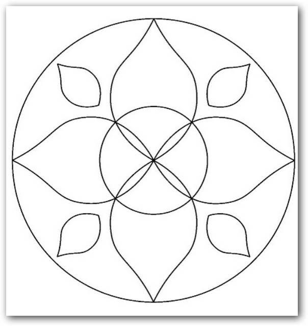 Dibujos de mandalas faciles para dibujar buscar con google mandalas mandala pointillism - Mandala facile ...