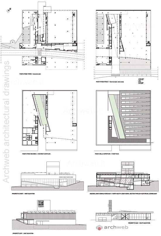 Kunsthal 2d kunsthal rotterdam the netherlands 1987 for Plan en 2d