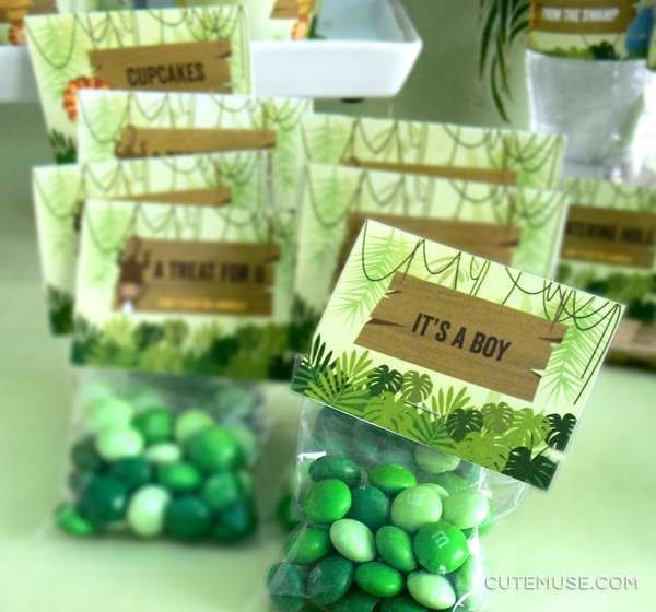 Candy For Baby Shower Ideas: Jungle Baby Shower Party Ideas