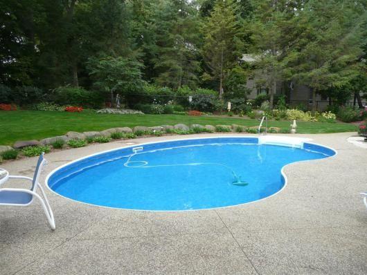 18 best kidney shaped inground swimming pool designs for backyard ...