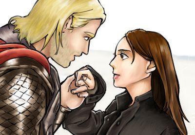 chong124: Thor & Jane  토르 그리기 너무 어렵다 /_\