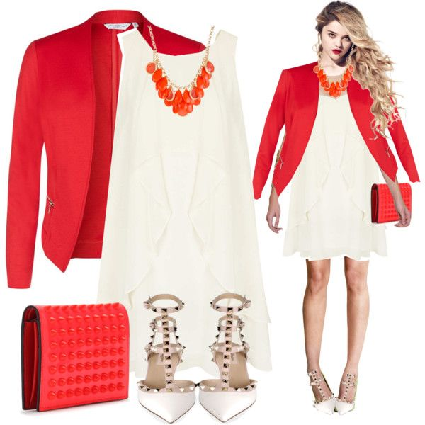 """Red red"" by lindaspfashioncloset on Polyvore"