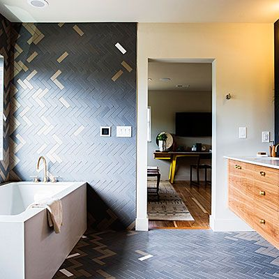 Tile Creatively   Smart Ideas From A Stunning Mid Century Modern Remodel    Sunset