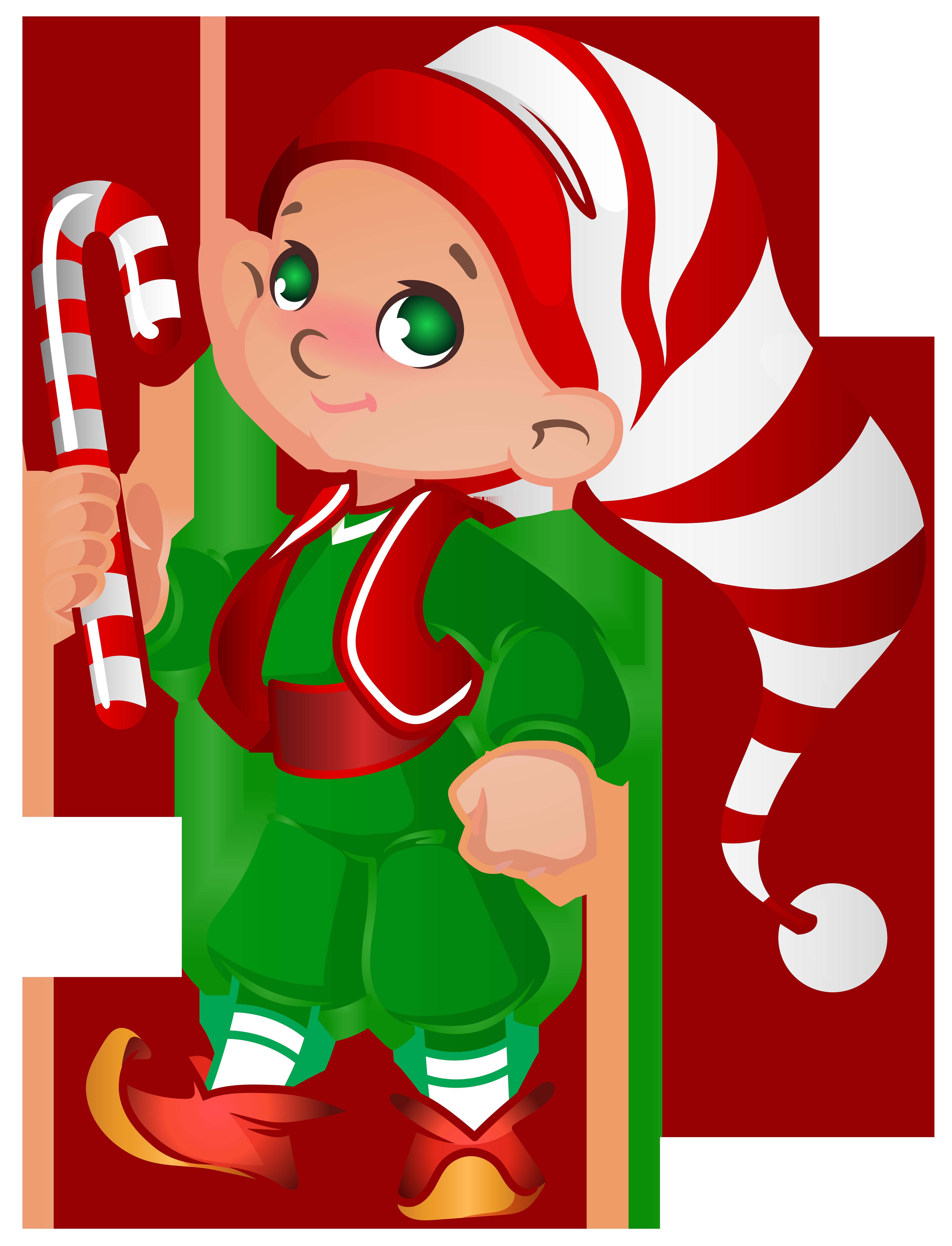Elf Santa Helper Transparent Clip Art Image