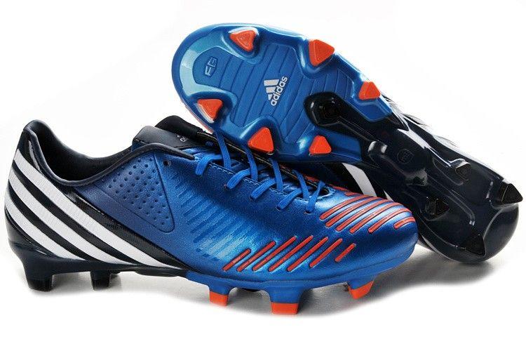 hot sale online 8b317 e7e58 Adidas Predator LZ TRX FG Football Shoes Blue Red White