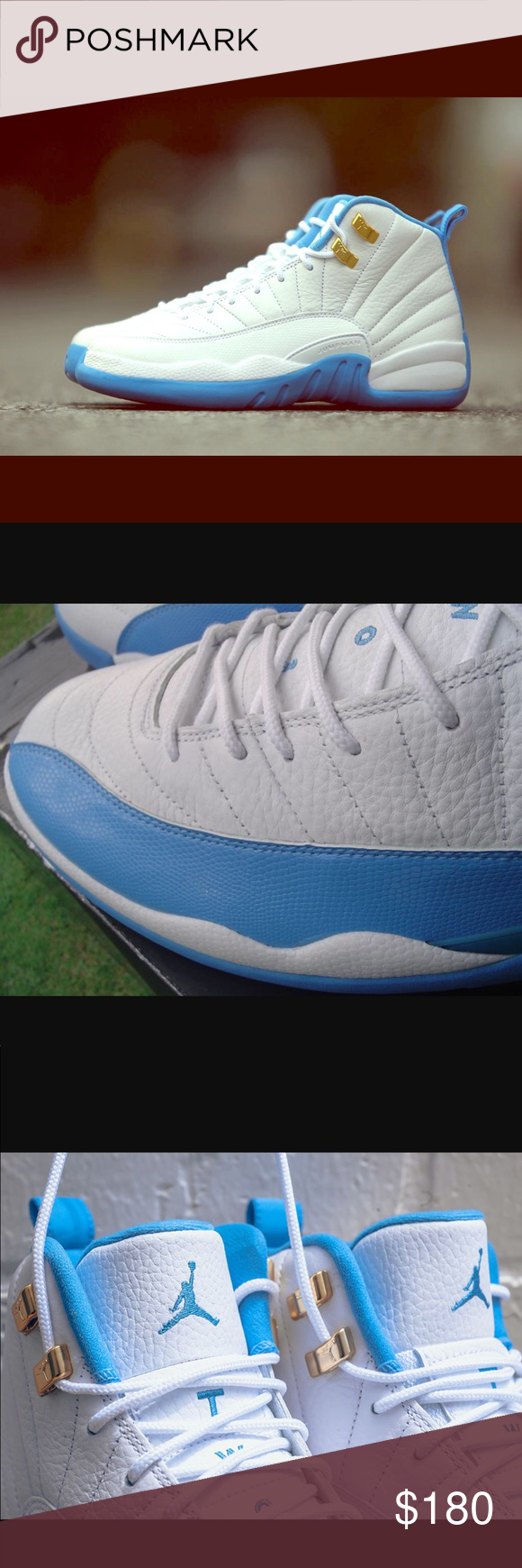 sports shoes b17a5 7866c Rare baby blue and white Retro 12 Jordans Baby blue ...