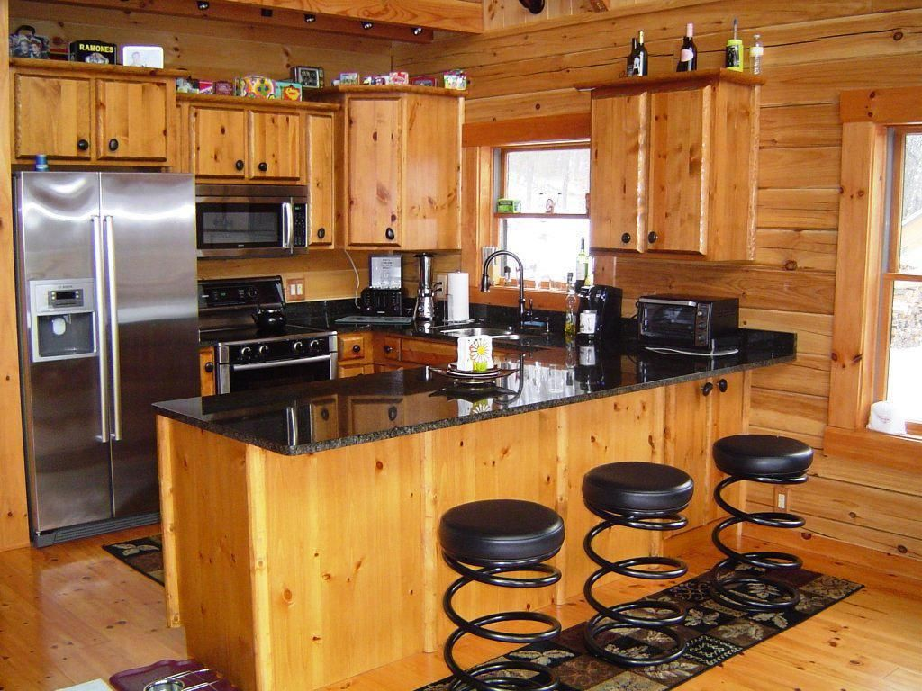 hickory flooring in log house - Google Search | HOUSE | Pinterest ...