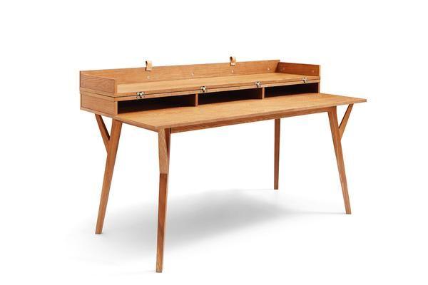 Bureau convertible en table Ble Dewarens en bois ferm et vue de