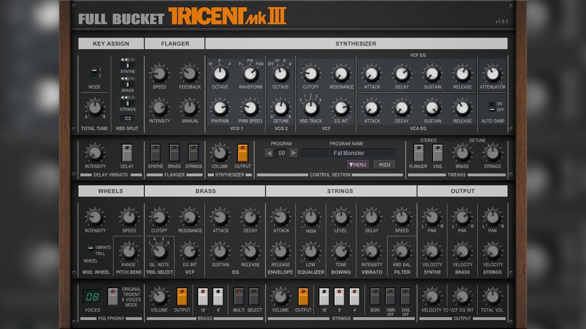 Full Bucket Music Releases Tricent mk III Free VST