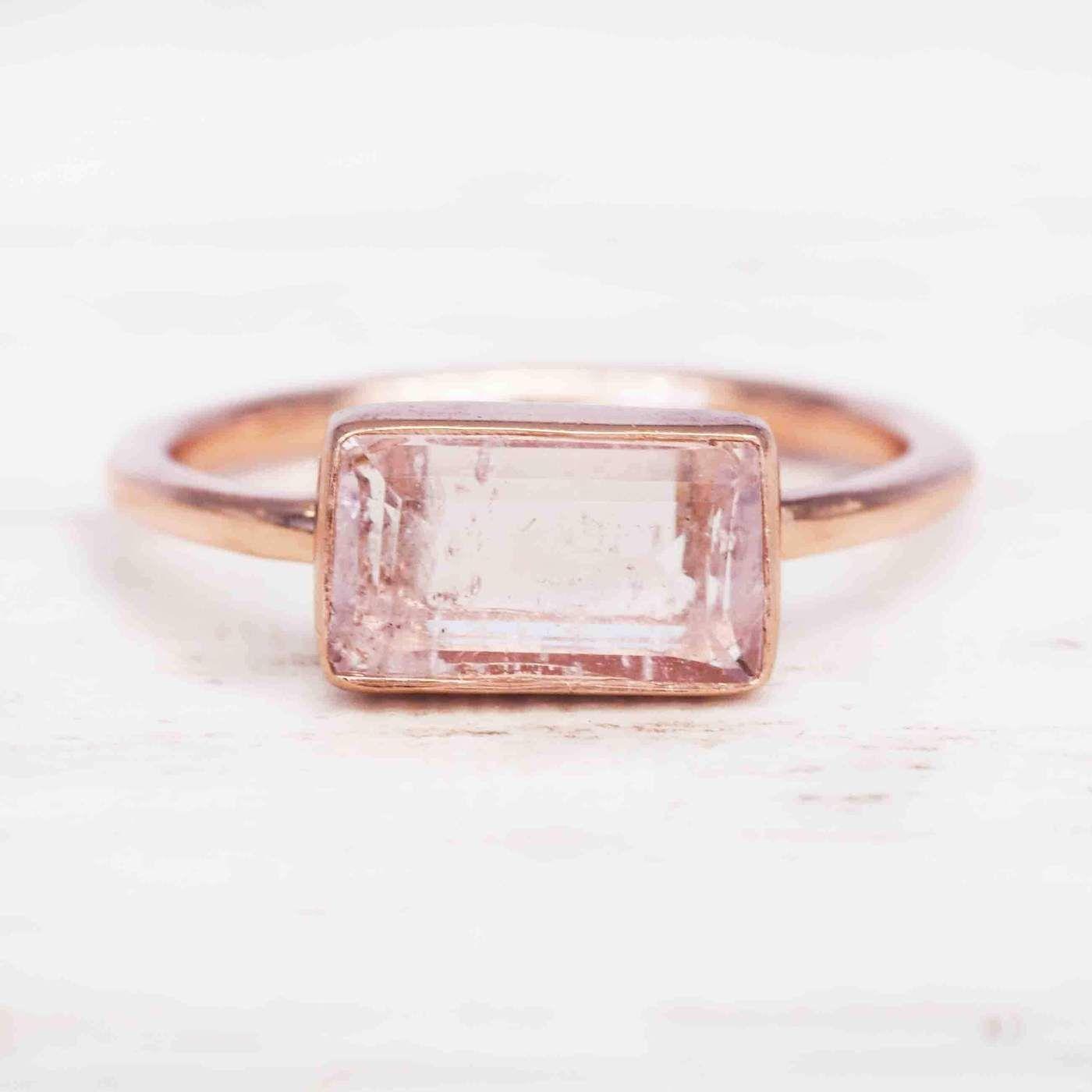 Rose Gold Amore Morganite Ring. Bohemian Jewellery. Indie and Harper. – www.indieandharper.com